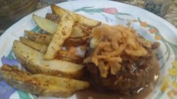 Roasted Red Pepper Burgers and Aleppo Steak Fries