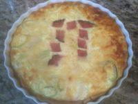 Pi day Ham and Leek Quiche