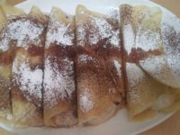 Crepes with Ricotta Rose Filling