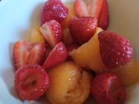 Spicy Strawberry Cantaloupe Salad