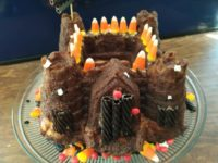 Haunted Halloween Pumpkin Fortress Cake